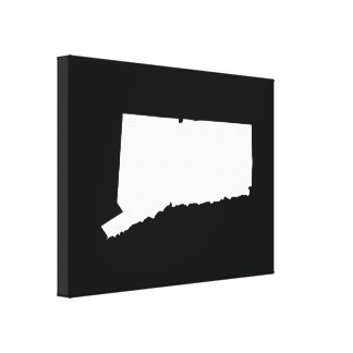 Connecticut in White and Black Canvas Print