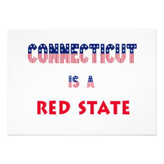 Connecticut is a Red State Custom Invite