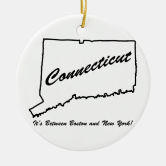 Connecticut - It's between Boston and New York! Christmas Ornament