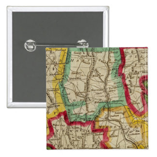 Connecticut Map 15 Cm Square Badge