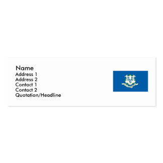 Connecticut Map and State Flag Double-Sided Mini Business Cards (Pack Of 20)