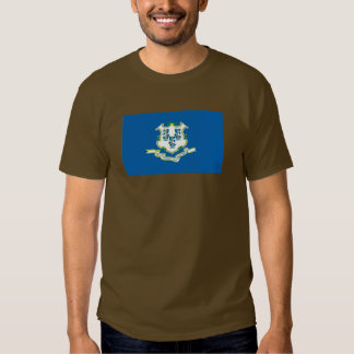 Connecticut Map and State Flag Tshirts
