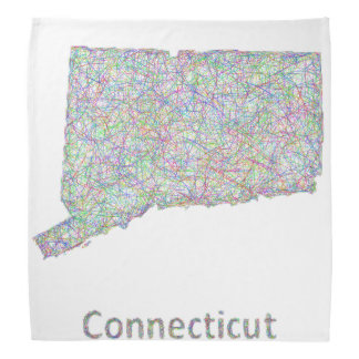 Connecticut map bandana