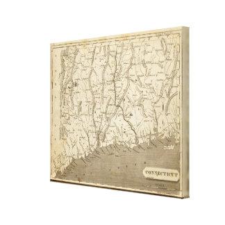 Connecticut Map by Arrowsmith Canvas Print