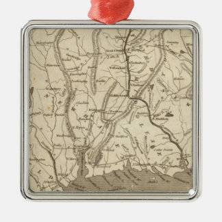 Connecticut Map by Arrowsmith Christmas Ornament