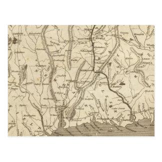 Connecticut Map by Arrowsmith Postcard
