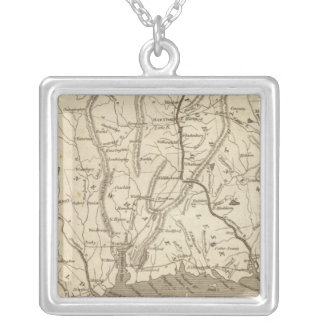 Connecticut Map by Arrowsmith Silver Plated Necklace