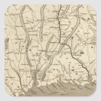 Connecticut Map by Arrowsmith Square Sticker