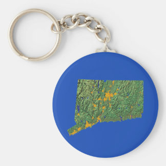 Connecticut Map Keychain