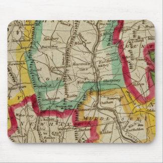 Connecticut Map Mouse Mat