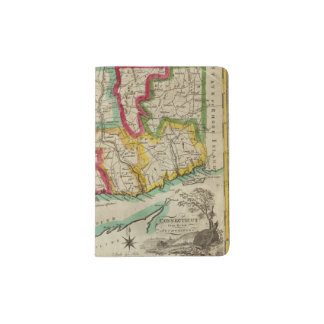 Connecticut Map Passport Holder