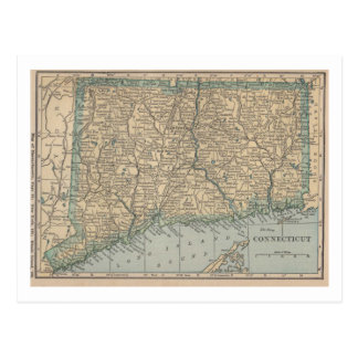 Connecticut Map Postcard