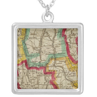 Connecticut Map Silver Plated Necklace