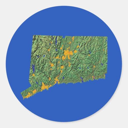 Connecticut Map Sticker