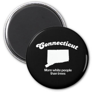 Connecticut - More white people than trees T-shirt 6 Cm Round Magnet