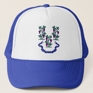 Connecticut Motto and Grape Vines Trucker Hat