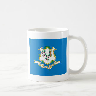 Connecticut  Official State Flag Basic White Mug