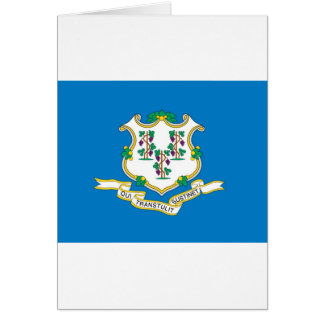 Connecticut  Official State Flag Greeting Card