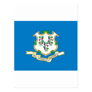 Connecticut  Official State Flag Postcard