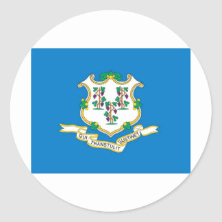 Connecticut  Official State Flag Round Sticker