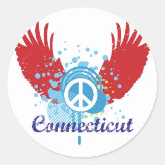 Connecticut Peace Round Sticker