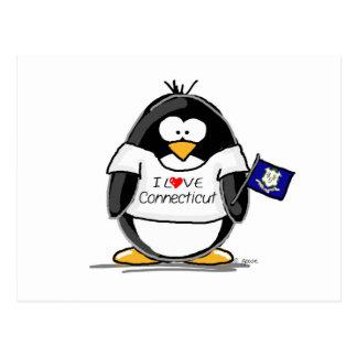 Connecticut Penguin Postcard