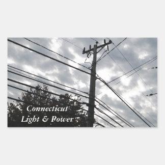 Connecticut Powerlines Rectangular Sticker