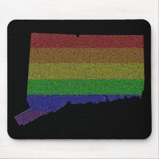 Connecticut Rainbow Pride Flag Mosaic Mouse Pad