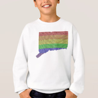 Connecticut Rainbow Pride Flag Mosaic Sweatshirt