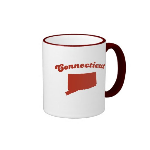 CONNECTICUT Red State Coffee Mugs