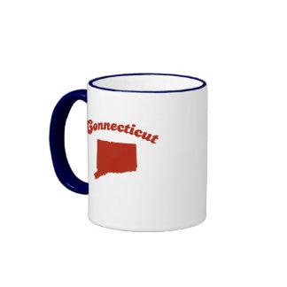 CONNECTICUT Red State Ringer Mug