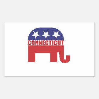 Connecticut Republican Elephant Rectangular Sticker