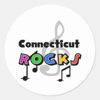 Connecticut Rocks Round Sticker