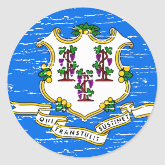 Connecticut Round Stickers