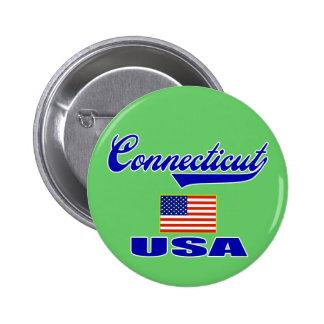 Connecticut Script 6 Cm Round Badge