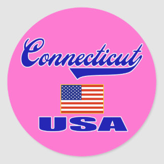 Connecticut Script Sticker