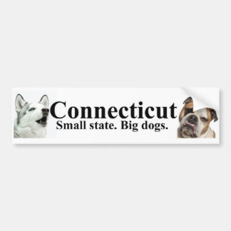 Connecticut Small state Big dogs Bumper Sticker