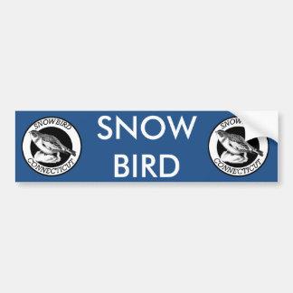 Connecticut Snowbird Shield Bumper Sticker