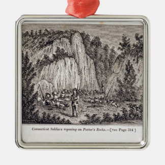 Connecticut Soldiers Reposing on Porter's Rock Christmas Ornament