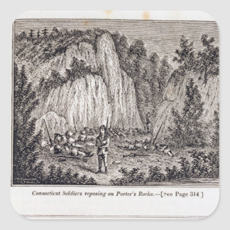Connecticut Soldiers Reposing on Porter's Rock Stickers