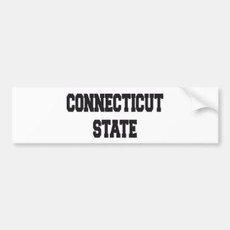 Connecticut state bumper stickers
