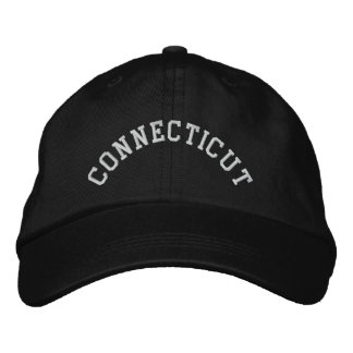 Connecticut State Embroidered Embroidered Baseball Cap