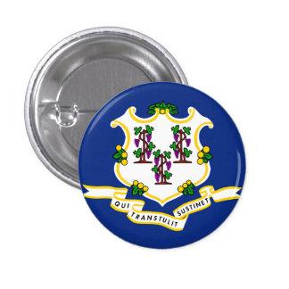 Connecticut State Flag 3 Cm Round Badge