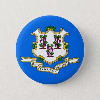 Connecticut State Flag 6 Cm Round Badge