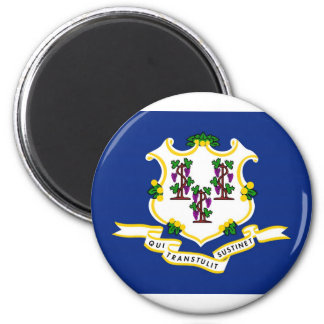 Connecticut State Flag 6 Cm Round Magnet
