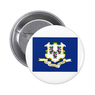 Connecticut State Flag Buttons