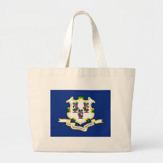 Connecticut State Flag Canvas Bag