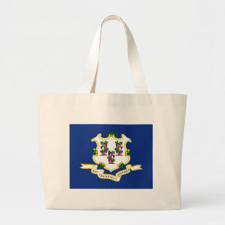 Connecticut State Flag Canvas Bags