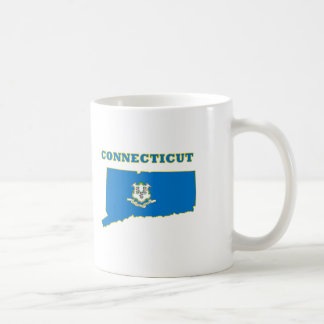 Connecticut State Flag Basic White Mug