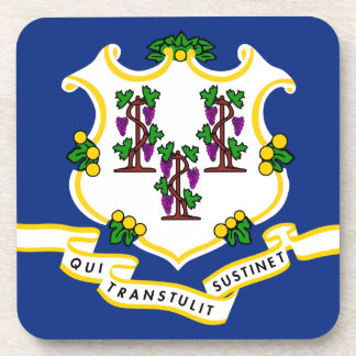 Connecticut State Flag Beverage Coasters